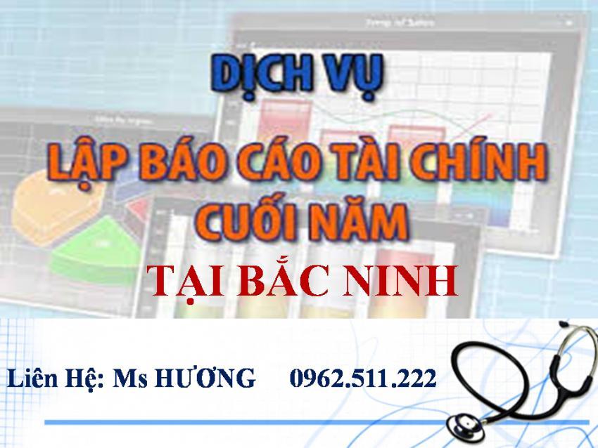 Dịch vụ dọn dẹp sổ sách, làm báo cáo tài chính 2017 ở Bắc Ninh
