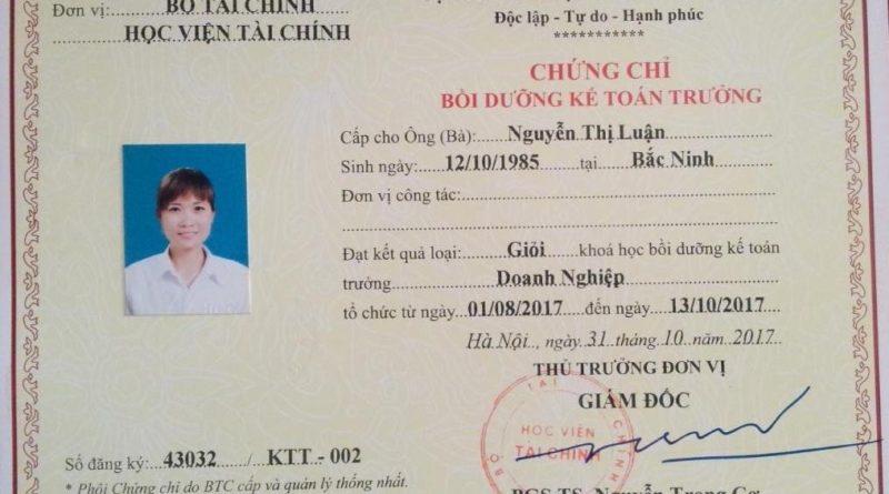 Đào tạo kế toán trưởng tại Bắc Giang