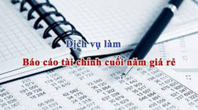 Dịch vụ làm báo cáo tài chính trọng gói tại Bắc Ninh