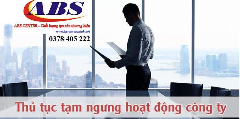 Dịch vụ tạm ngừng kinh doanh nhanh tại Bắc Ninh