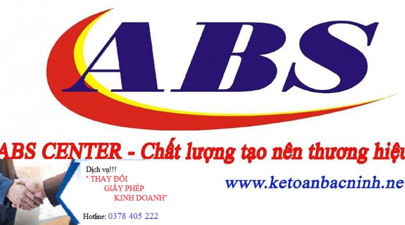 Dịch vụ thay đổi giấy phép kinh doanh tại Bắc Ninh