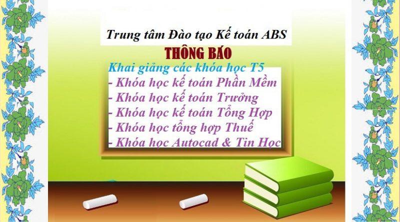 Địa chỉ đào tạo phần mềm kế toán tại Bắc Ninh