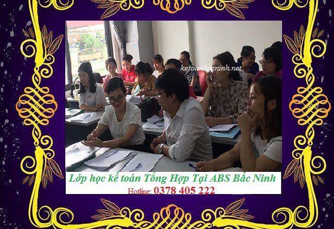 Lớp học kế toán tổng hợp tại Bắc Ninh