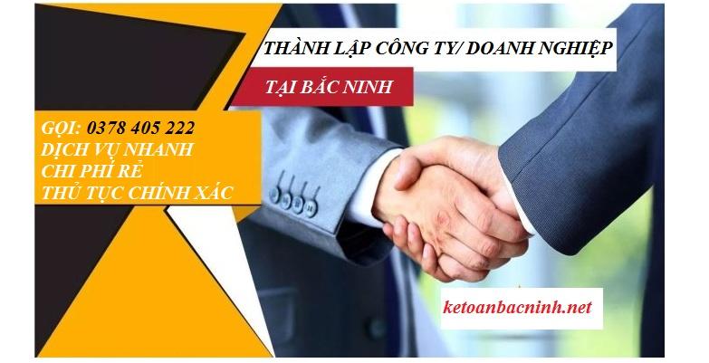 Dịch vụ thành lập doanh nghiệ trọn gói tại Bắc Ninh