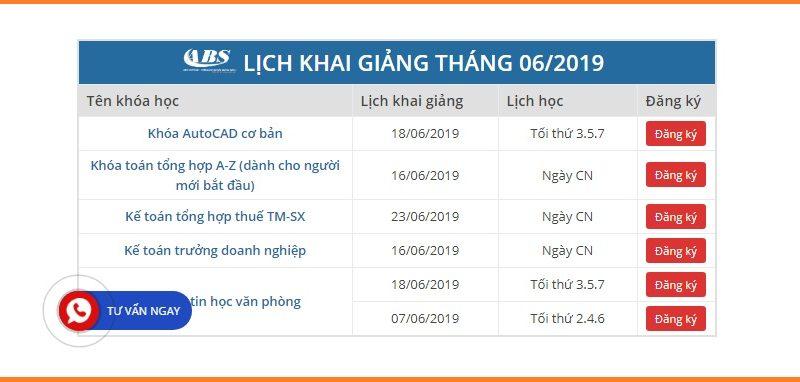 Lịch khai giảng khóa tin học văn phòng tại Bắc Ninh